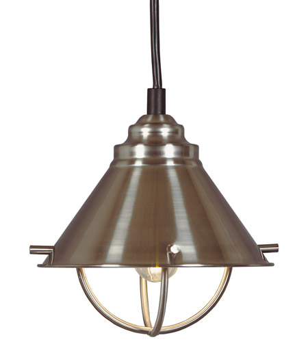 Kenroy Lighting 66342BS Harbour 1 Light 7 inch Brushed Steel Mini Pendant Ceiling Light photo
