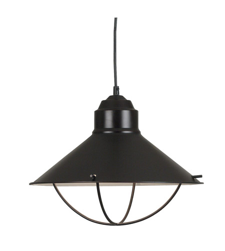 Kenroy Lighting 66349ORB Harbour 1 Light 16 inch Oil Rubbed Bronze Pendant Ceiling Light photo