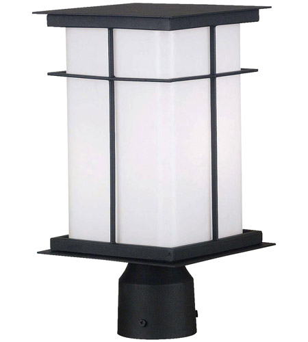Kenroy Lighting Mesa 1 Light Outdoor Post Lantern in Textured Black   70003TB photo