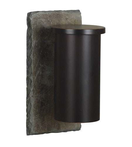 Kenroy Lighting Oakley 1 Light Outdoor Wall Lantern in Natural Slate with Oil Rubbed Bronze   70010SL photo