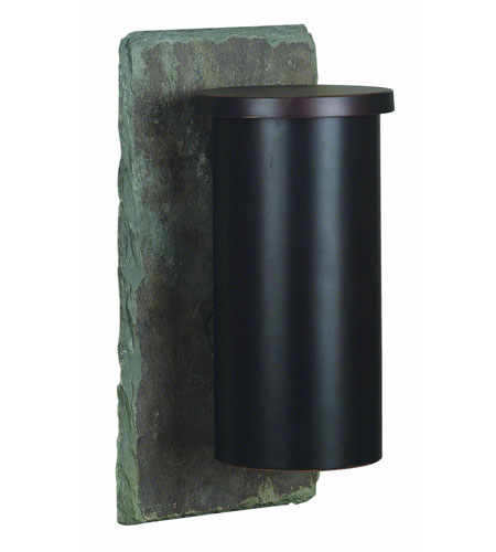 Kenroy Lighting Oakley 1 Light Outdoor Wall Lantern in Natural Slate with Oil Rubbed Bronze   70011SL photo