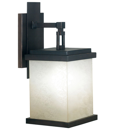 Kenroy Lighting Plateau 1 Light Outdoor Wall Lantern in Oil Rubbed Bronze   70212ORB photo