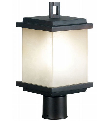 Kenroy Lighting Plateau 1 Light Outdoor Post Lantern in Oil Rubbed Bronze   70214ORB photo