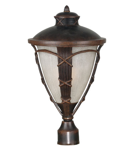 Kenroy Lighting Ribbon and Reed Caramel Malt Finish Post Lights & Accessories 70304CM photo