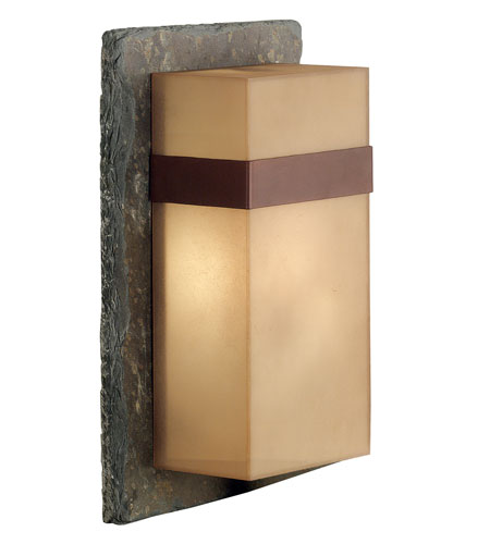 Kenroy Lighting Sacramento 1 Light Outdoor Wall Lantern in Natural Slate with Copper  Band  70506SL photo