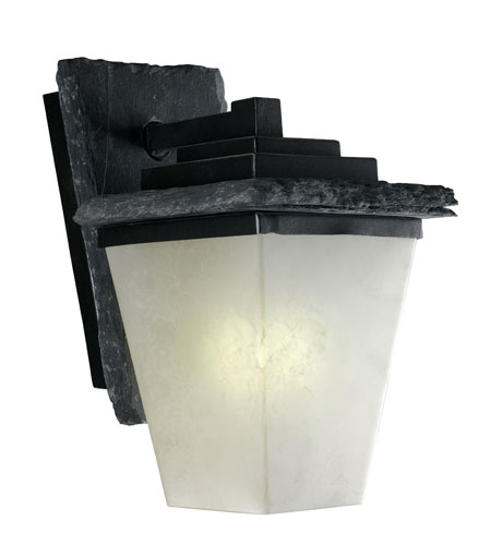 Kenroy Lighting 70508SL Flintridge 1 Light 13 inch Natural Grey Slate with Distressed Black Outdoor Wall Lantern photo