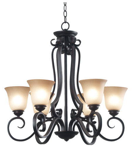 Kenroy Lighting Flex 6 Light Chandelier in Oil Rubbed Bronze   80236ORB photo