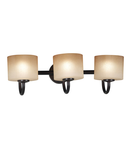 Kenroy Lighting Matrielle 3 Light Vanity in Oil Rubbed Bronze   80333ORB photo