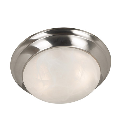 Kenroy Lighting 80361BS Dickens 2 Light 14 inch Brushed Steel Flush Mount Ceiling Light photo