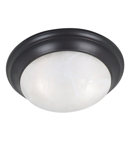 Kenroy Lighting Dickens 2 Light Flush Mount in Oil Rubbed Bronze   80361ORB photo