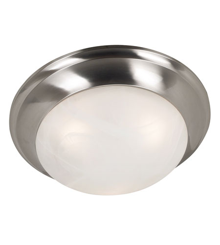 Kenroy Lighting Dickens 3 Light Flush Mount in Brushed Steel    80362BS photo