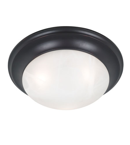 Kenroy Lighting Dickens 3 Light Flush Mount in Oil Rubbed Bronze   80362ORB photo