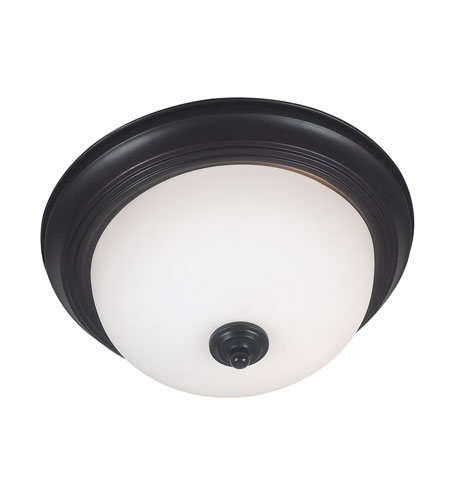 Kenroy Lighting Triomphe 1 Light Flush Mount in Oil Rubbed Bronze   80365ORB photo