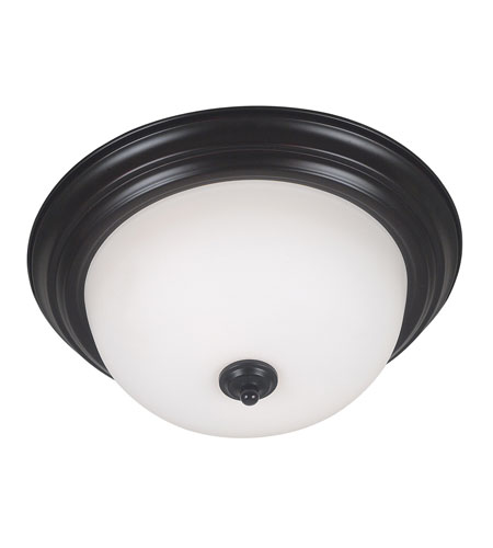 Kenroy Lighting Triomphe 2 Light Flush Mount in Oil Rubbed Bronze   80366ORB photo