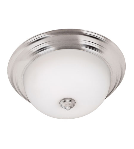 Kenroy Lighting Triomphe 2 Light Flush Mount in Brushed Steel   80367BS photo