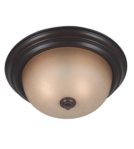 Kenroy Lighting 80367COCO Triomphe 2 Light 13 inch Cocoa Flush Mount Ceiling Light photo