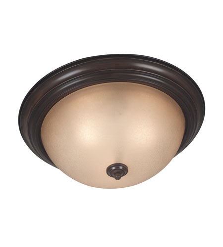 Kenroy Lighting Triomphe 3 Light Flush Mount in Cocoa   80368COCO photo