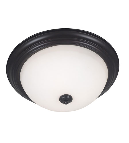 Kenroy Lighting Triomphe 3 Light Flush Mount in Oil Rubbed Bronze   80368ORB photo