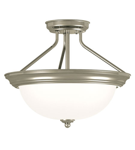 Kenroy Lighting Triomphe 2 Light Semi-Flush in Brushed Steel   80370BS photo
