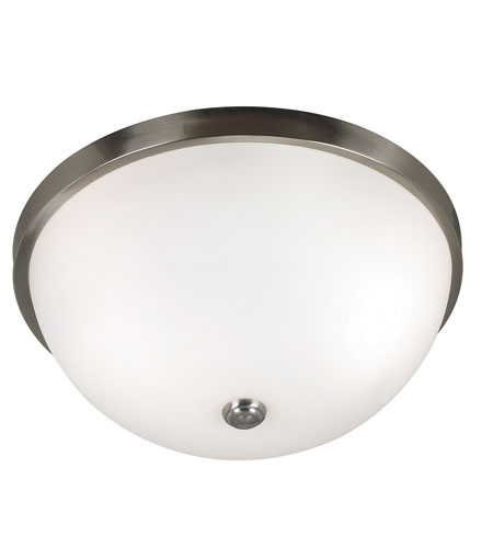 Kenroy Lighting Venue Brushed Steel Finish Flush Mount 80395BS photo