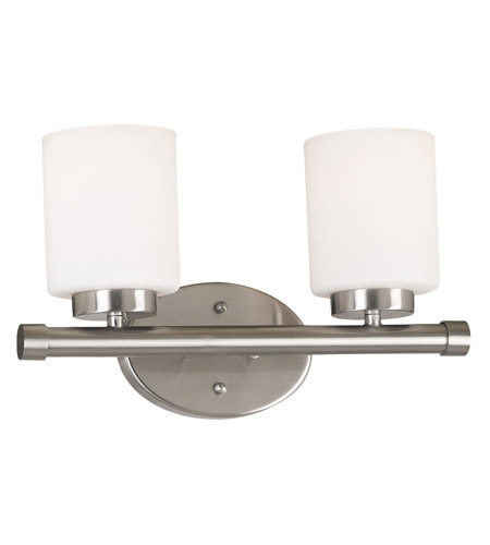 Kenroy Lighting Mezzanine 2 Light Vanity in Brushed Steel   80402BS photo