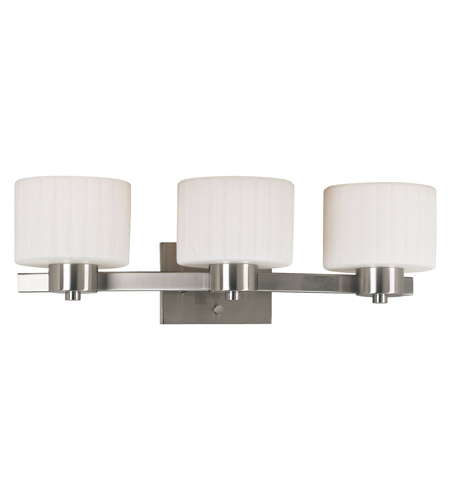 Kenroy Lighting Legacy 3 Light Vanity in Brushed Steel   80413BS photo