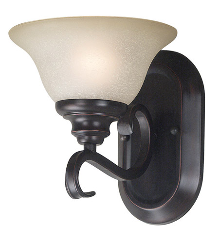 Kenroy Lighting Welles 1 Light Sconce in Oil Rubbed Bronze   80471ORB photo