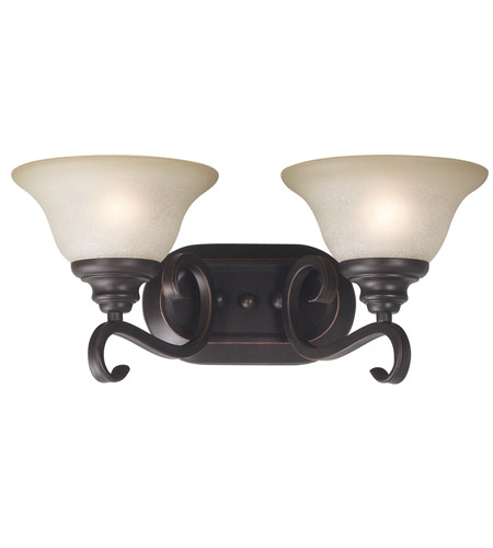 Kenroy Lighting Welles 2 Light Vanity in Oil Rubbed Bronze   80472ORB photo
