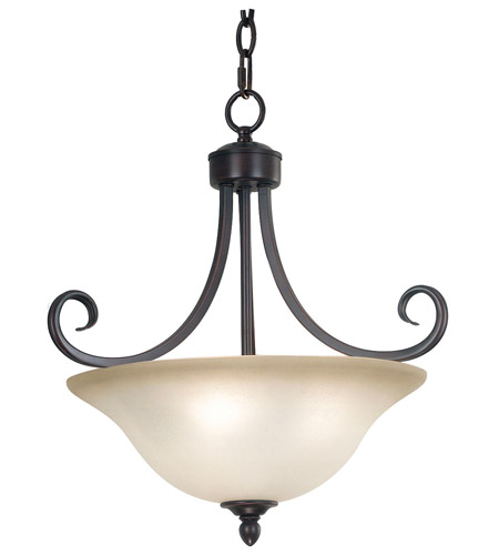 Kenroy Lighting Welles 3 Light Semi-Flush in Oil Rubbed Bronze   80474ORB photo