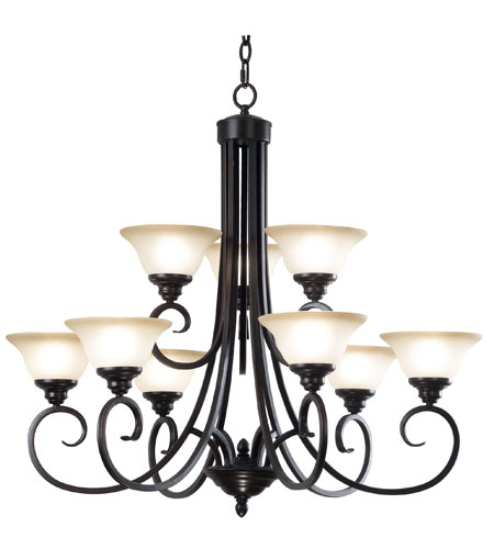 Kenroy Lighting Welles 9 Light Chandelier in Oil Rubbed Bronze   80479ORB photo