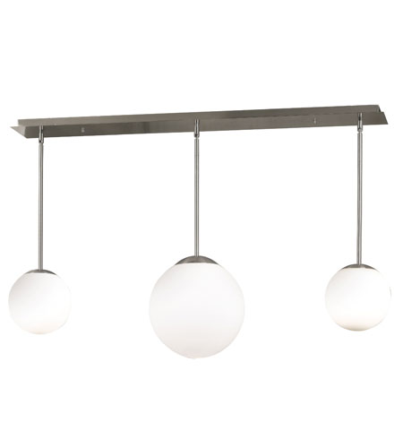Kenroy Lighting Orb Brushed Steel Finish Island Lighting 80513BS photo
