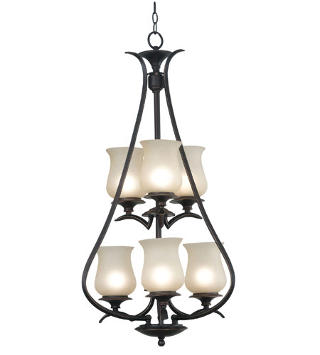 Kenroy Lighting Bienville 6 Light Foyer in Oil Rubbed Bronze   80584ORB photo