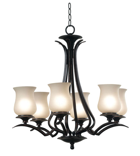 Kenroy Lighting Bienville 6 Light Chandelier in Oil Rubbed Bronze   80586ORB photo