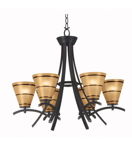 Kenroy Lighting 90086ORB Wright 6 Light 28 inch Oil Rubbed Bronze Chandelier Ceiling Light photo