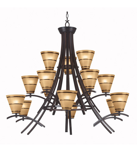 Kenroy Lighting Wright 15 Light Chandelier in Oil Rubbed Bronze   90088ORB photo