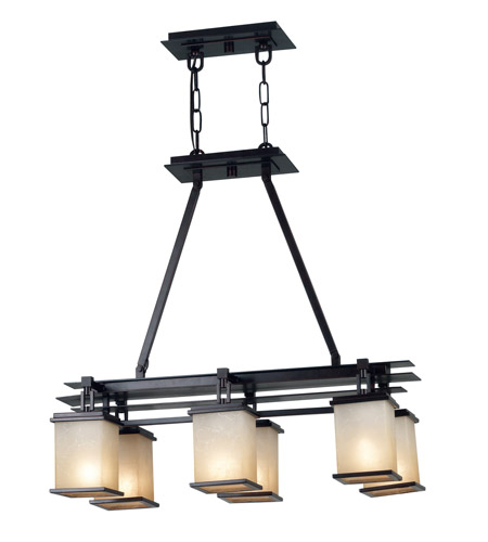 Kenroy Lighting 90386ORB Plateau 6 Light 30 inch Oil Rubbed Bronze Island Light Ceiling Light photo