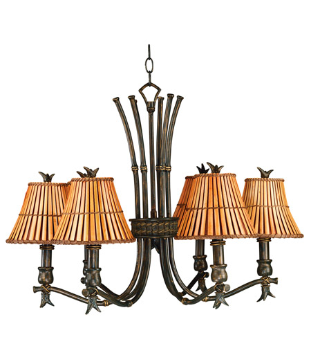 Kenroy Lighting 90456BH Kwai 6 Light 29 inch Bronze Heritage Chandelier Ceiling Light photo