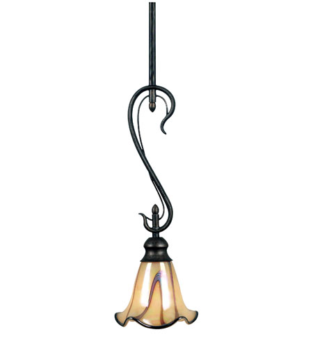 Kenroy Lighting Inverness 1 Light Mini Pendant in Tuscan Silver   90888TS photo