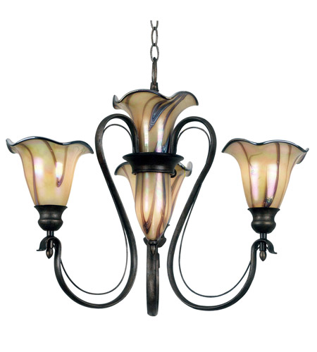 Kenroy Lighting Inverness 3 Light Chandelier in Tuscan Silver   90895TS photo