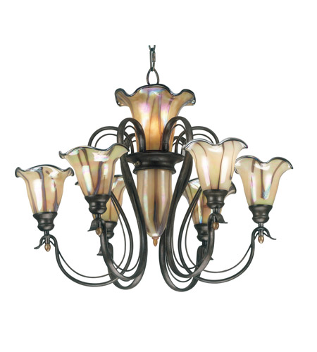 Kenroy Lighting 90896TS Inverness 9 Light 31 inch Tuscan Silver Chandelier Ceiling Light photo