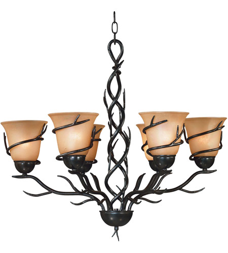 Kenroy Lighting 90900brz Twigs 6 Light 28 Inch Bronze Chandelier Ceiling