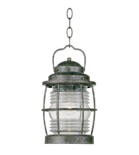 Kenroy Lighting Beacon 1 Light Outdoor Hanging Lantern in Flint   90955FL photo