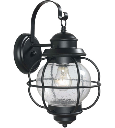 Kenroy Lighting Hatteras 1 Light Outdoor Wall Lantern in Black   90962BL photo