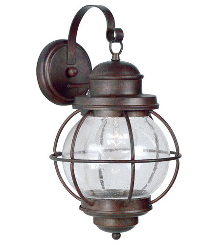 Kenroy Lighting Hatteras 1 Light Outdoor Wall Lantern in Gilded Copper   90963GC photo