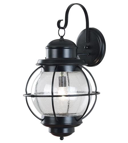 Kenroy Lighting Hatteras 1 Light Outdoor Wall Lantern in Black   90964BL photo