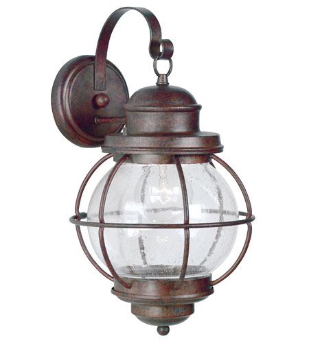 Kenroy Lighting Hatteras 1 Light Outdoor Wall Lantern in Gilded Copper   90964GC photo