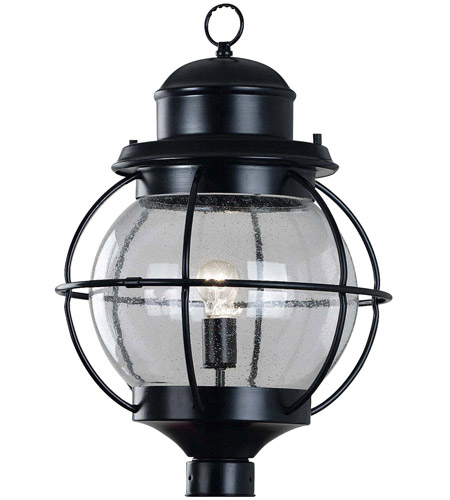 Kenroy Lighting 90967BL Hatteras 1 Light 24 inch Black Post Lantern photo