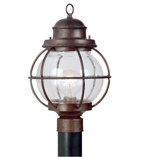Kenroy Lighting Hatteras 1 Light Outdoor Post Lantern in Gilded Copper   90967GC photo