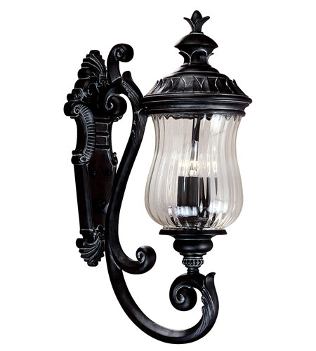 Kenroy Lighting Troubadour 3 Light Outdoor Wall Lantern in Ebony Pearl   91102EP photo