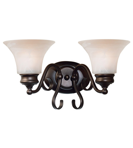 Kenroy Lighting Wynwood 2 Light Vanity in Burnished Bronze   91392BBZ photo